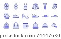 Filled Outline Clothing Icons 74447630