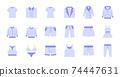 Flat Clothing Icons 74447631