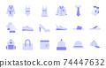 Flat Clothing Icons 74447632