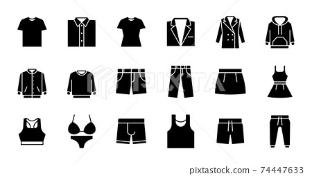 Glyph Clothing Icons 74447633