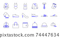 Colored Line Clothing Icons 74447634