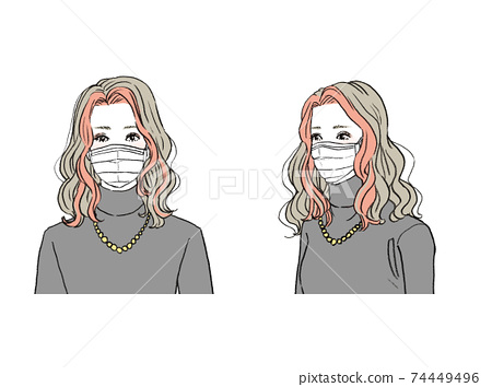 Beauty_hairstyle illustration 74449496