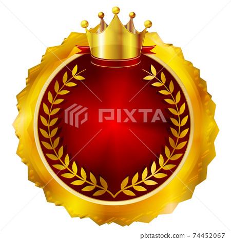 왕관 메달 아이콘 74452067