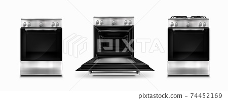 Gas stove and cooking panel with electric oven 74452169