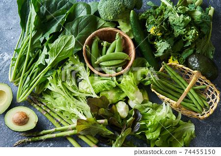 各種綠色蔬菜 74455150