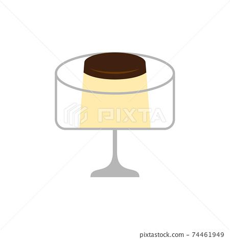 布丁和甜點杯的插圖 74461949