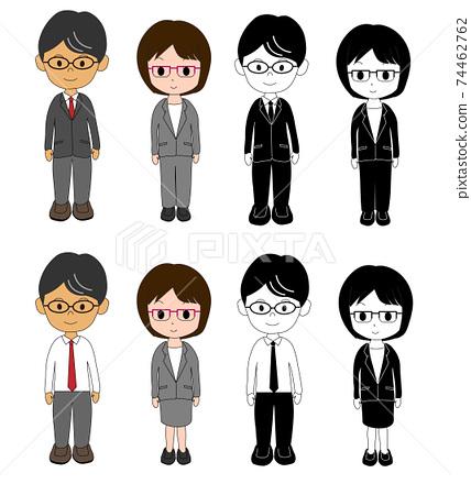Office worker mid-career basic 74462762