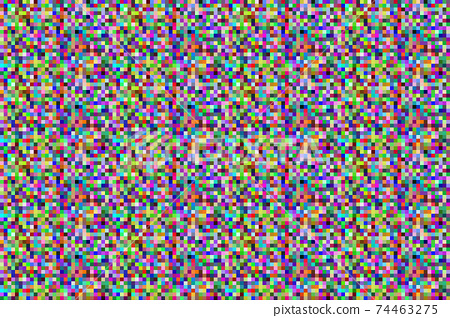 Colorful pixel background. Noise signal LCD pixel screen, color digital glitch. 74463275