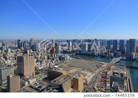 海灣地區的城市景觀海灣地區的摩天大樓 74465376