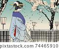 """月月吉俊(Yoshitoshi Tsukioka)月球的一百個方面"""" Yukaku"""" Kuruwa no Tsuki 74465910"""