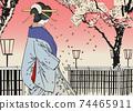 """月月吉俊(Yoshitoshi Tsukioka)月球的一百個方面"""" Yukaku"""" Kuruwa no Tsuki 74465911"""