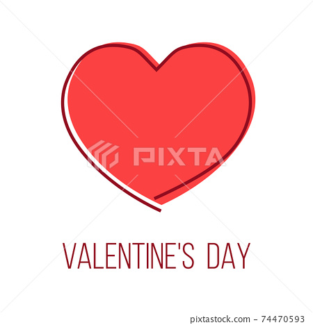 valentine's day greeting card with heart shape 74470593