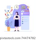 Woman make plan and set task, week goals 74474782