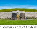 """愛爾蘭世界遺產""""博因河谷的布魯娜·波娜遺址""""紐格蘭奇 74475630"""