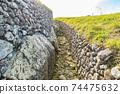 """愛爾蘭世界遺產""""博因河谷的布魯娜·波娜遺址""""紐格蘭奇 74475632"""