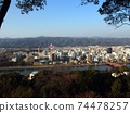 21年冬季的高知市(從Hitsuzan欣賞;森林→加賀美河→高知市→四國山脈) 74478257
