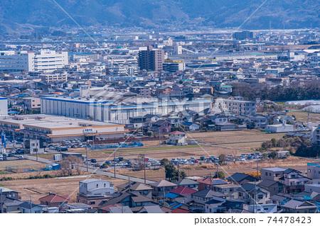 (시즈오카 현) 本城山 공원에서 바라 보는 시미즈 도시 경관 74478423