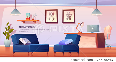Psychologist office for family therapy in clinic 74490243