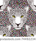 Seamless pattern with leopard 74492234