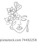 Minimal woman face 74492258