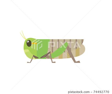 昆蟲蚱hopper的插圖 74492770