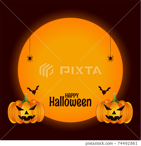 happy halloween background with test space design 74492861