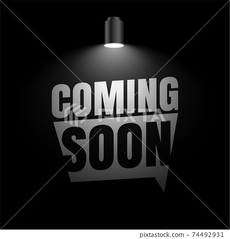 coming soon background with focus light effect design 74492931