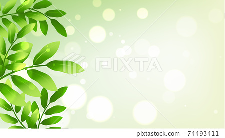 green leaves background with text space 74493411