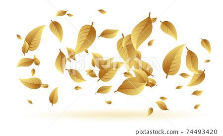 falling or floating leaves background design 74493420