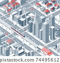 거리, 거리 풍경, 길거리 74495612