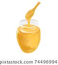 彩色的鉛筆風格蜂蜜圖 74496994