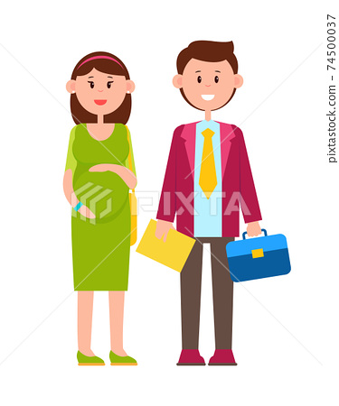 Couple of Happy Newlyweds, Multicolored Poster 74500037
