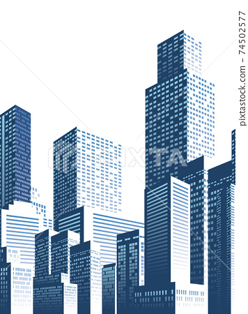Skyscraper big city background material 74502577