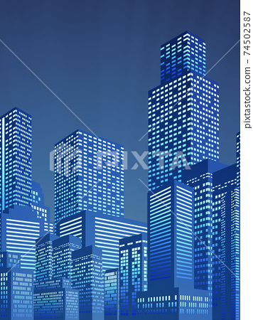 Skyscraper big city background material 74502587