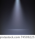 Rays of light on transparent checkered background 74509225