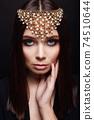 fashion portrait of Beautiful sexy woman in jewelry 74510644