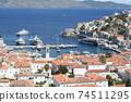 希臘九頭蛇海島港口和街道 74511295