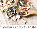 Butterfly pea and lemongrass dry herbal tea 74512360