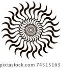 Circle geometric vector. Spiral, vortex, swirl zig zag shape. 74515163