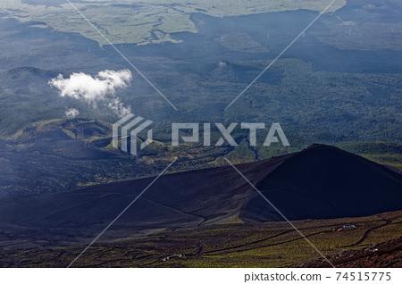 從富士山的山頂看到的Takanagayama和Gotenba山徑 74515775