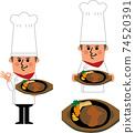 햄버거와 요리사 74520391