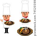 스테이크와 요리사 74520399