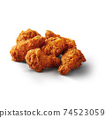set of spicy wing fried chicken isolated on white background 74523059