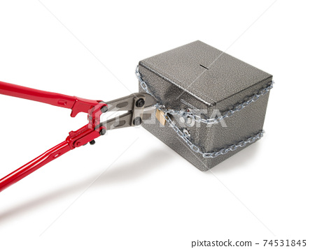 Cutting chain with bolt cutters. 74531845