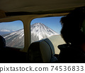 Mt. Fuji from inside the plane 74536833