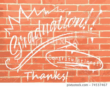 磚牆畢業噴霧藝術塗鴉 74537467