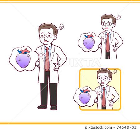 Elderly male doctor_I_heart_trouble03.eps 74548703