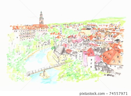 世界遺產城市景觀 - 捷克共和國 - 捷克克魯姆洛夫 74557971
