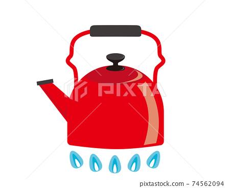 矢量圖的水壺廚房用具 74562094