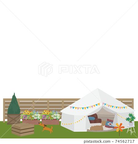 Belamping Illustration Picnic Camp 74562717